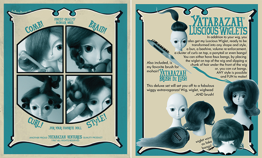 Blythe doll baby mohair wig wiglet set by Yatabazah Luxury Wigs 10-11 Kenner